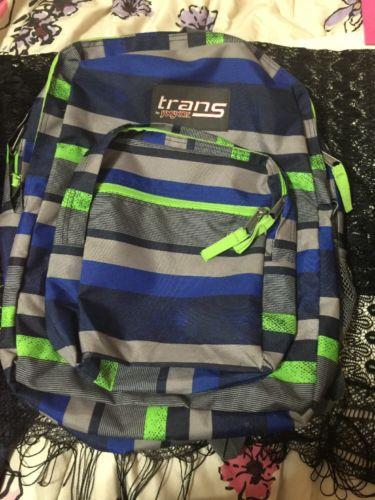 Trans By Janspot Back Pack Stripes Green