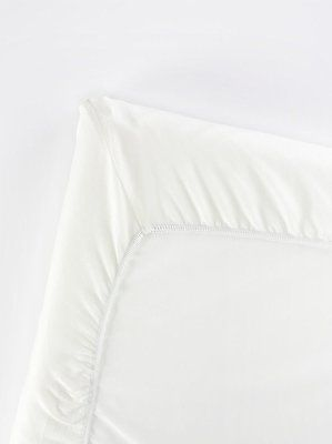 BabyBjorn Fitted Sheet for Travel Cot / Crib Light ~ Soft Organic Cotton White