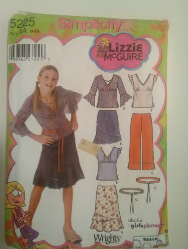 SIMPLICITY 5225 GIRLS  Skirt  Top PANTS Belt SIZE AA (8-16)