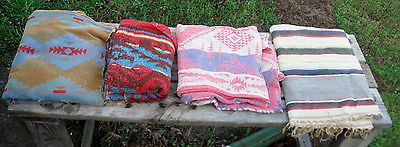 Lot 4 Southwest 50's Camp Blankets for Cutter Use, repurposing, sewing projects