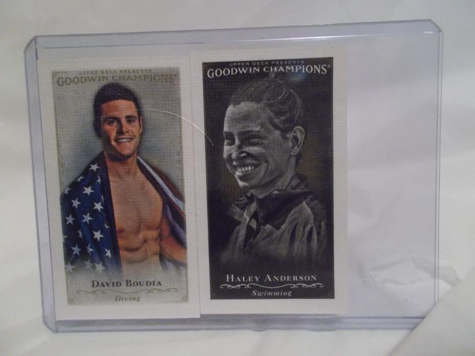 2016  GOODWIN  CHAMPIONS  MINI  CARDS *BOUDIA/ANDERSON*  DIVING/SWIMMING #27/142
