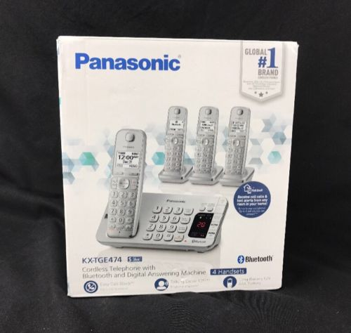 Panasonic Link2Cell  Expandable Cordless Telephone  #KX-TGE474 Answering machine