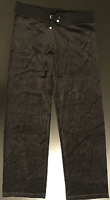 VICTORIA'S SECRET VS Womens Sweat Pants Black Suede Velour Velvet XS