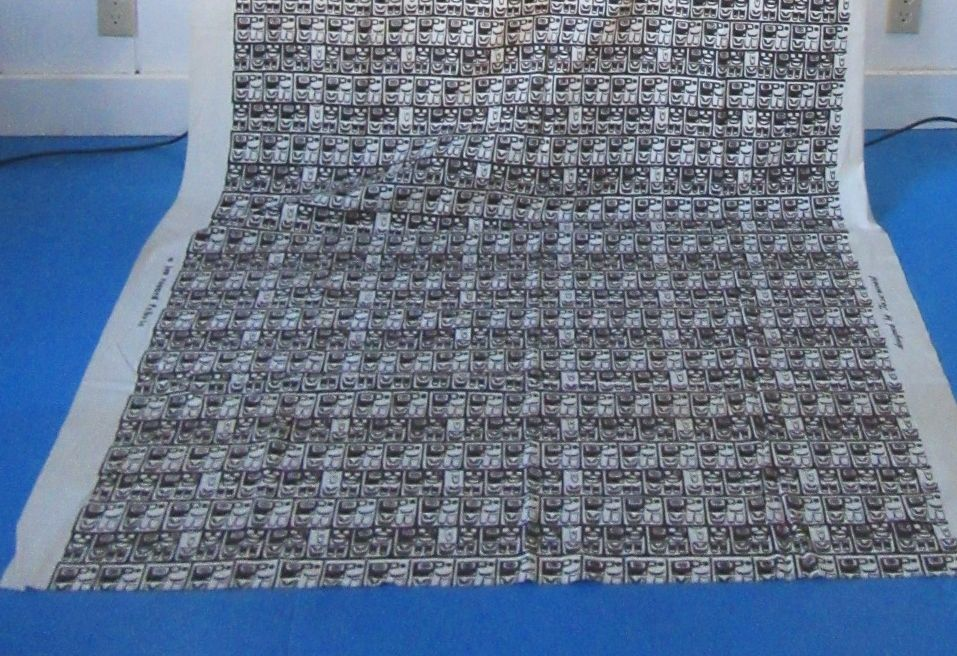MCM Fabric Yardage Maori Tiki Tribal Influence Design Tassencourt Jan Rouard