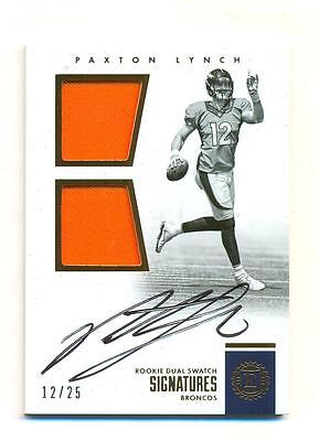 2016 Panini Encased Paxton Lynch RC Dual Jersey AUTO 12/25 Jersey Number RARE SP