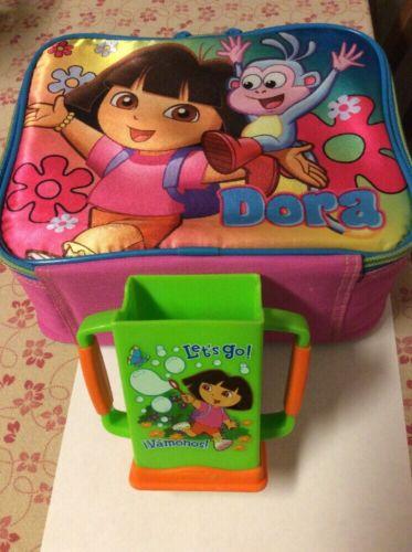 Dora the Explorer Lunch Box And Juice Box Holder