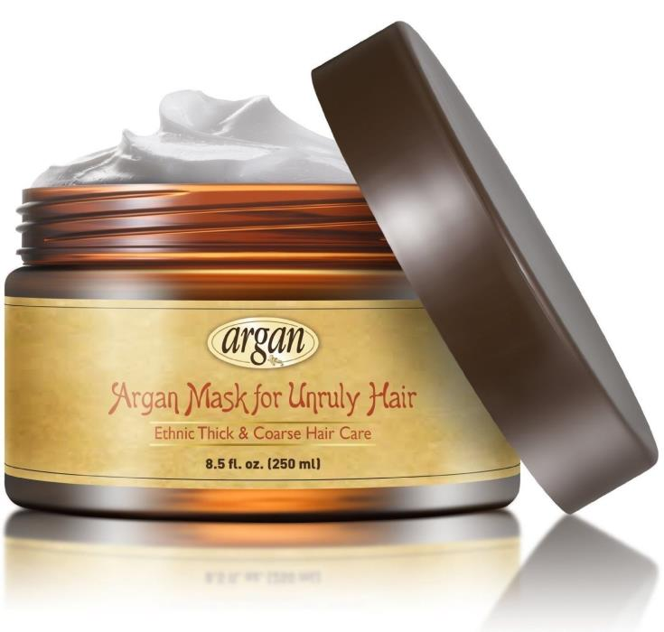Unruly Hair Mask Deep Conditioner - Extra Thick Coarse Ethnic Hair Care - Morocc