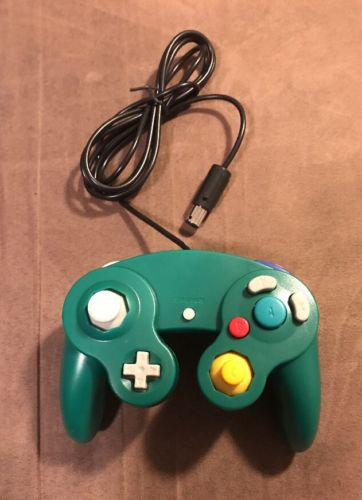 Green Controller for the Nintendo GameCube ~ Excellent Condition! Fast Shipping!