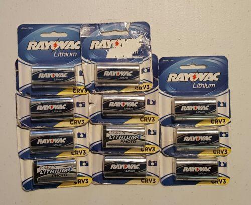 11 Rayovac Lithium CRV3 3v batteries Use by 2021, 2021, 2022 CR-V3 RLCRV3-2A