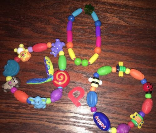 3 Nuby Baby Teether Ring Teething Toy Butterfly Animals Beads Boy or Girl CLEAN