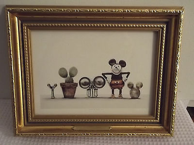 LASSE ABERG INRAMAD REPRODUCTION FRAMED MICKEY MOUSE Cousins 9 X 7