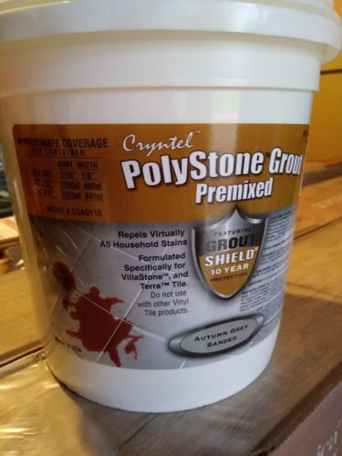 Polystone Premixed Grout Autumn Gray Sanded 1 Gallon