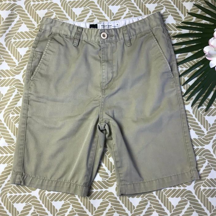 RVCA Weekday Chino Khaki Shorts - Boys Size 30