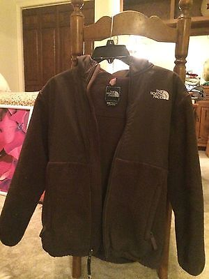 North Face Brown Denali coat with hood, Child's Large