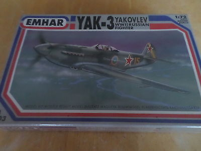 Emhar 1/72  Yak-3 Russian Fighter NIB/Sealed-Mint
