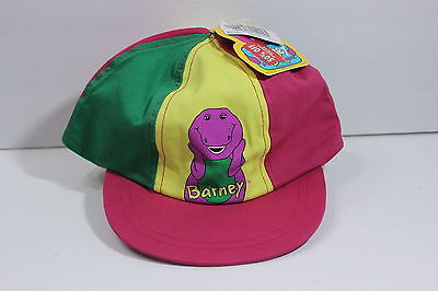 NEW Retro 1992 Barney Kids Toddler Hat Cap Colorful TV Show Purple Dinosaur NWT