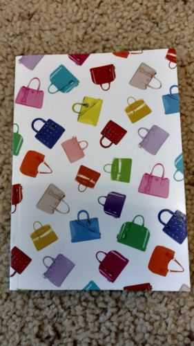 Blank pages paper notebook with designers' handbags cover Small agenda - New