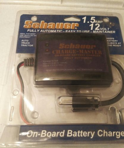 Schumacher On Board 12V Volt 1.5 Amp  Battery Charger Automatic Maintainer NEW
