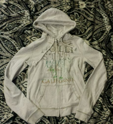 Hollister Women's Girl's Full Zip Hoodie - Medium - Gray