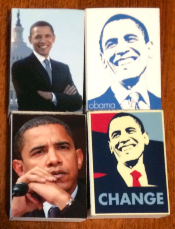 2008 Barack OBAMA Campaign Promo Match Box Matches Unused 4 FULL President