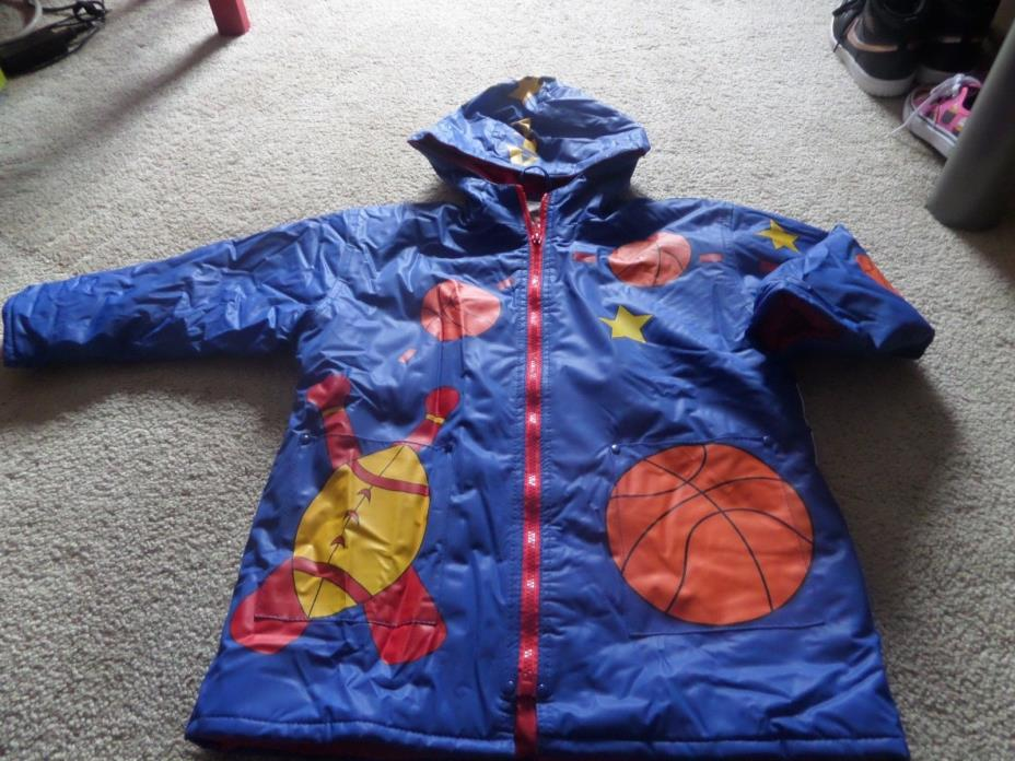Boys Adorable Wippette Kids Boys Sport Lined Rain Coat Size 5/6