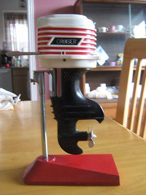 VINTAGE NOVELTY AM RADIO OUTBOARD MOTOR DESIGN HAND MADE