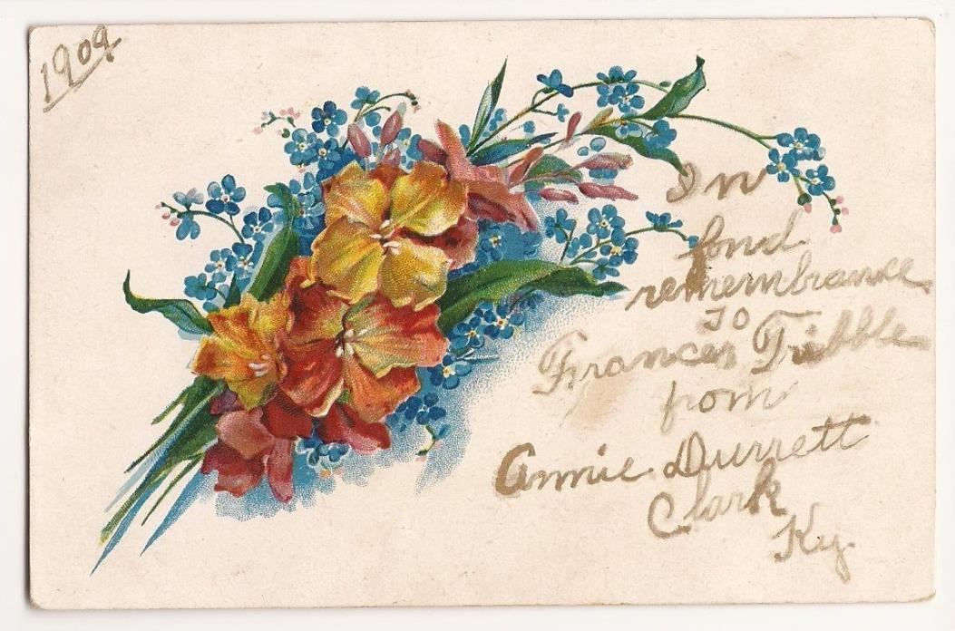 Clark, Kentucky In Fond Remembrance 1909 Post Card