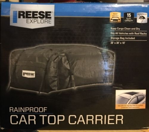 Reese Explore 1041100 15 cu.ft Rainproof Car Top Carrier Cargo Bag