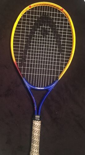 Youth Head Tennis Racket Agassi 25 Blue Yellow 3 7/8-00 Art #230250