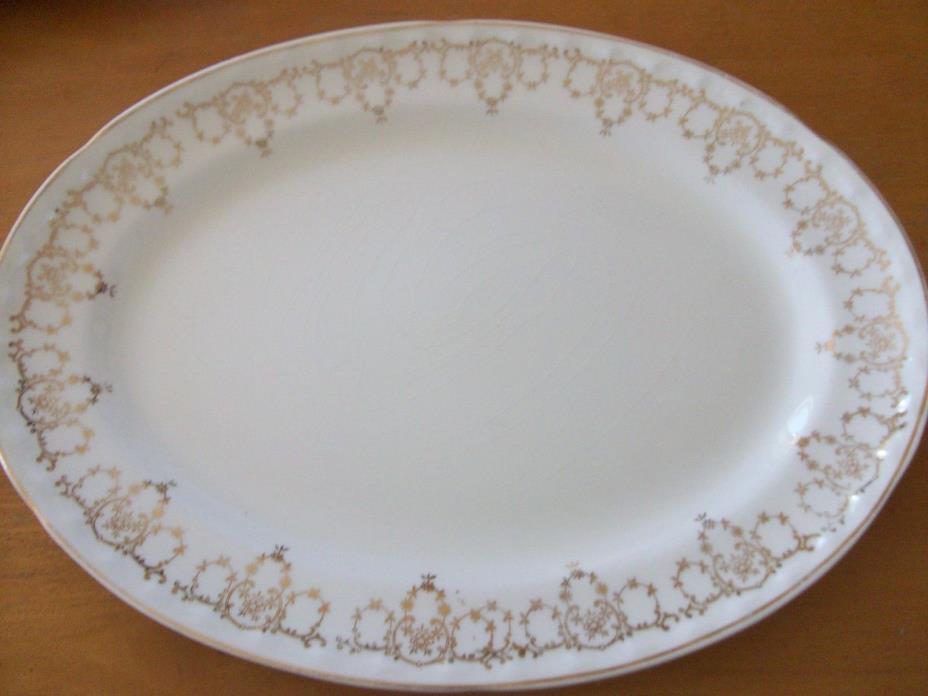 Vintage China Serving Platter Creme  (No potters Marking)