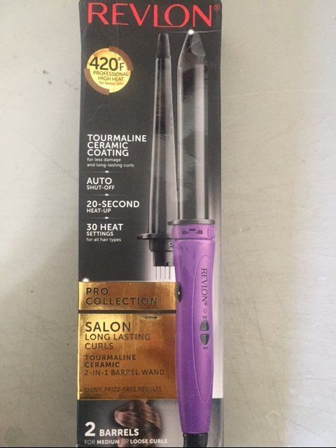 Revlon 2 In 1 Multi-styling Iron Wand Pink And Black 0.89 OZ NEW FREE FAST SHIP