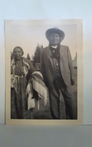 Native American Apache-Hopi-Mojave-Navajo Indian Couple Photo