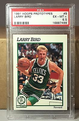 1991 HOOPS PROTOTYPES #9 LARRY BIRD PSA 6.5 EX-MT+ BOSTON CELTICS HOF