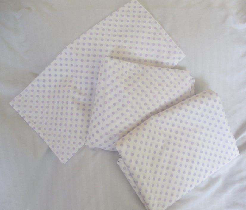 Pottery Barn Kids Purple Organic Mini Dot Toddler Sheet Set NWOT - NLA