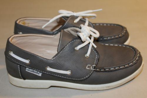 Akademiks Boys Gray Boat Shoes Size 2.5 Top Quality