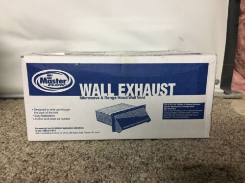 NEW Master Flow Wall Exhaust Microwave & Range Hood Vent 10