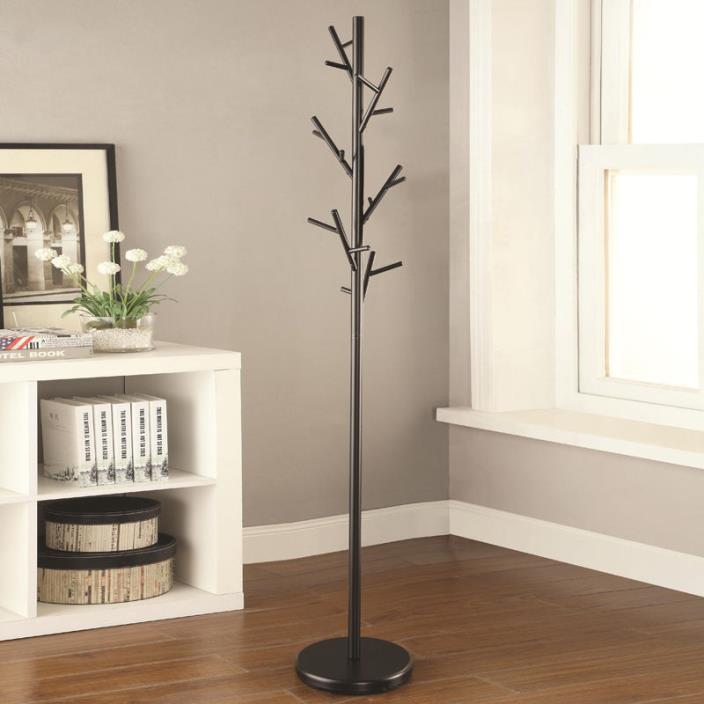 Floor Coat Rack Vertical Free Standing Cubicle Tree Branch Hat Hanger Hook Metal