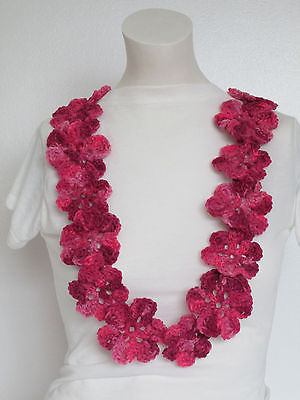 Hand Crochet Hawaiian Yarn Lei~Prefect for Any Special Occasions~Pink Tones