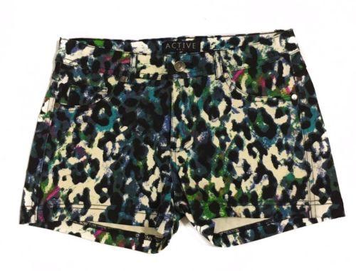 Active Womens Leopard Print Shorts Size Medium NWOT