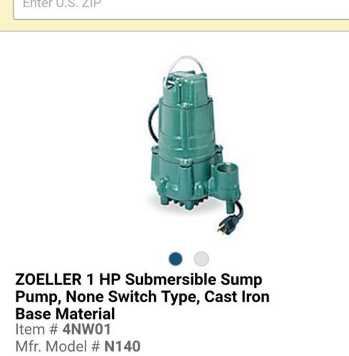 Zoeller 1 HP 1-1/2