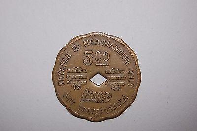 BLUE DIAMOND COAL CO STORE SCRIP $5.00 TRADE TOKEN 1948 BONNY BLUE VA LEE CO