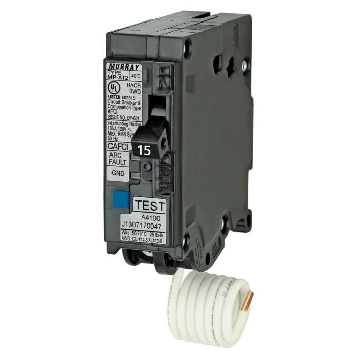 Murray 15 Amp 1 in. Single-Pole Combination AFCI Circuit Breaker