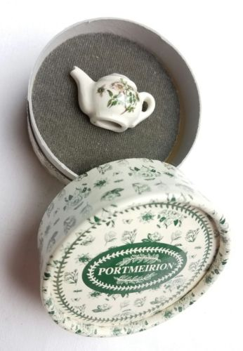 Portmeirion Teapot Brooch Pin Made In England with box free shipping