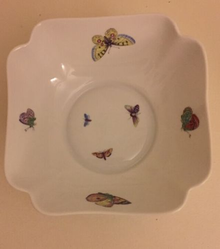 LIMOGES CHAMART FRANCE BUTTERFLY BOWL