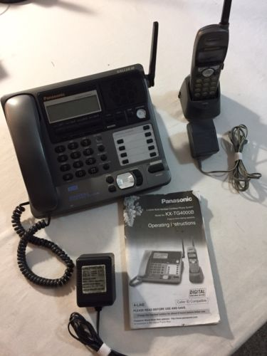 PANASONIC KX-TG4000B CORDED TELEPHONE BASE w/1 KX-TGA400B EXPANSION HANDSET