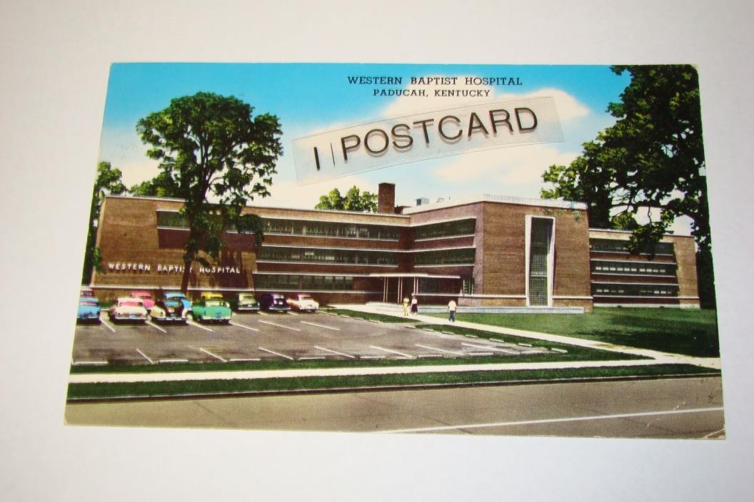 1950s WESTERN BAPTIST HOSPITAL, Paducah, Kentucky KY - RPPC