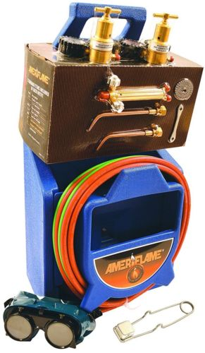 NEW Ameriflame T100 Medium Duty Portable Welding/Brazing Outfit with Plastic Cse