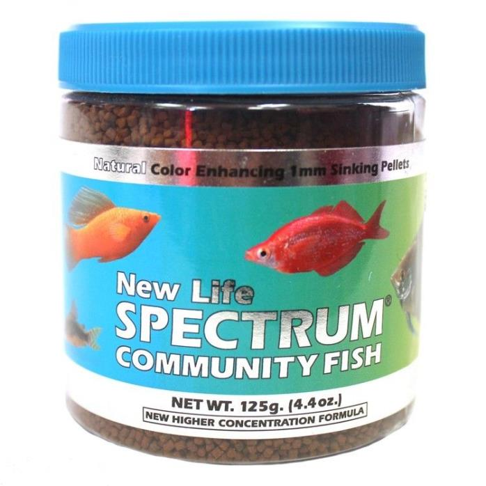New Life Spectrum Community Fish 1mm Sinking Food 125gm