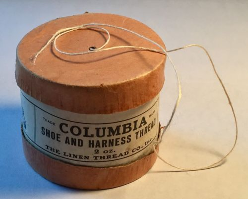 Vintage Columbia Shoe and Harness Thread 2 oz. The Linen Thread Co. Boxed Roll