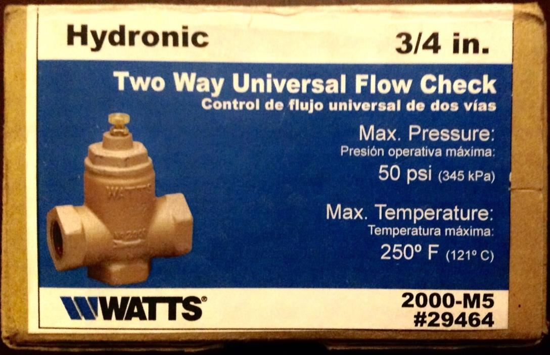Watts 2000M5 3/4
